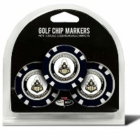 Set of 3Purdue Boilermakersチップwith Removableゴルフボールマーカー