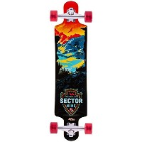 Sector 9 Faultline Red Longboard Complete New 2015 by Sector 9