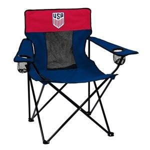 MLS Folding Elite Chair with Mesh Back and Carryバッグ ブルー