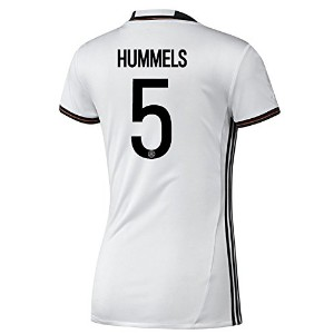 Adidas Hummels #5 Germany Home Soccer Jersey Euro 2016-Women(Authentic name and number of player)...