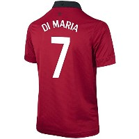 NIKE DI MARIA #7 Manchester United Home Soccer Jersey YOUTH./サッカーユニフォーム マンチェスター・ユナイテッドFC ホーム用 背番号7...
