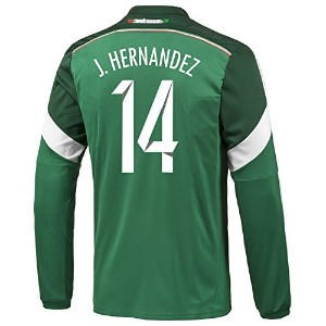 Adidas J. HERNANDEZ #14 Mexico Home Jersey World Cup 2014 (Long Sleeve)/サッカーユニフォーム メキシコ ホーム用 長袖...