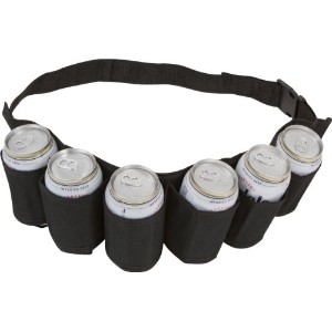 EZ Drinker Beer and Soda Canホルスターベルト,パックof 6 Pack of 6