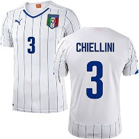 PUMA CHIELLINI #3 ITALY AWAY JERSEY WORLD CUP 2014(Authentic name and number)/サッカーユニフォーム イタリア アウェイ用...