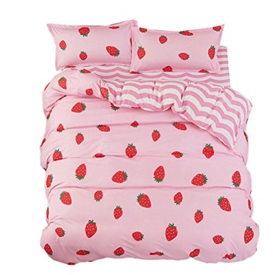 Zhhlaixing 布団カバー Cute pattern Home Bedding Single Double Bed Luxury Bedding Set Duvet/Quilt Cover...