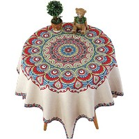 Zhhlaixing 高品質の Classic Cotton Linen Square Table Cover Home Hotel Restaurant Tablecloth