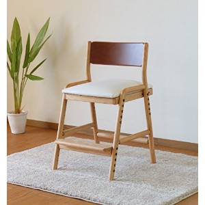 ISSEIKI 学習チェア ダイニング 子供 椅子 キッズ イス チェア 木製 アルダー 無垢 (ツートーン) FIORE DESK CHAIR (NA/MBR/WH)