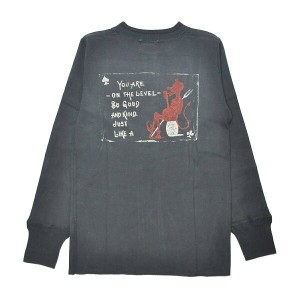 GANGSTERVILLE LIKE A DEVIL THICK HENRY L/S T-SHIRTS (BLACK)ギャングスタービル 長袖 Tシャツ/ロンT/GLADHAND【WEIRDO...