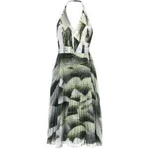 Tufi Duek - pleated midi dress - women - ビスコース/ポリエステル - 40