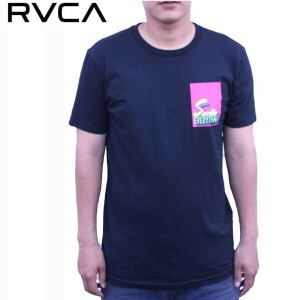 RVCA ルーカ Tシャツ SACRIFICE EVERYTHING SS TEE BLK ストリート サーフ AG041245