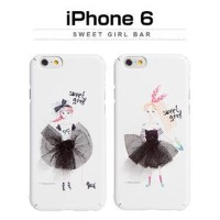 その他 Happymori iPhone6 Sweet Girl Bar レッド【代引不可】 ds-1823395