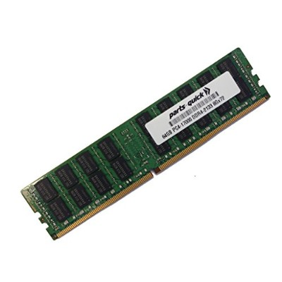 64GB Memory for Supermicro X10DAI Motherboard DDR4 2133MHz クワッド Rank X4 Load Reduced DIMM (PARTS...