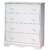 South Shore - Heavenly 4-Drawer Chest, Pure White by South Shore