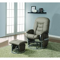 Deluxe Glider and Ottoman Set by Coaster Home Furnishings