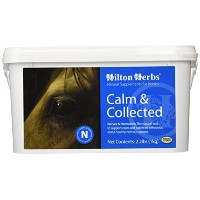 Hilton Herbs Calm and Collected Herbal Supplement for Nervous/Agitated Horses, 1kg Tub by Hilton...