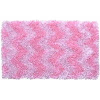 The Rug Market Shaggy Raggy Pink Chevron Children's Area Rug, 2.8' x 4.8' by The Rug Market
