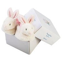 Ragtales Baby Infant Fifi White Bunny Booties Slippers by Ragtales
