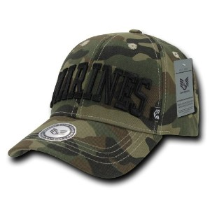 Rapid Dominance 940-MARINESTEXT Cameo Military Caps - Marine Text, Woodland