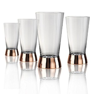 Artland Coppertino Highball Glass – 4のセット 17 oz 52014B
