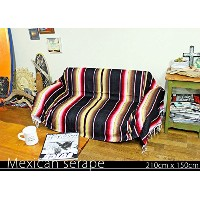 RUG&PIECE Mexican Serape made in mexcico ネイティブ メキシカン サラペ メキシコ製 210cm×150cm (rug-5772)