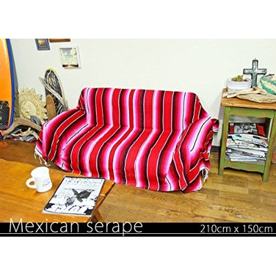 RUG&PIECE Mexican Serape made in mexcico ネイティブ メキシカン サラペ メキシコ製 210cm×150cm (rug-5791)