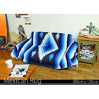 RUG&PIECE Native Mexican Rug ネイティブ柄 メキシカンラグ 200cm×120cm (rug-5759)
