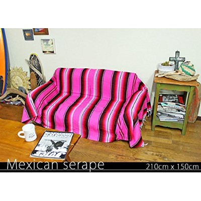 RUG&PIECE Mexican Serape made in mexcico ネイティブ メキシカン サラペ メキシコ製 210cm×150cm (rug-5787)