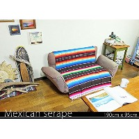 RUG&PIECE Mexican Serape made in mexcico ネイティブ メキシカン サラペ メキシコ製 190cm×95cm (rug-5824)