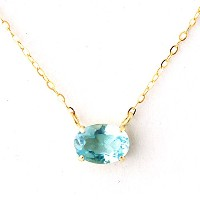 One&Only Jewellery 1ct 天然 ブルートパーズ K18 ペンダント ネックレス 11月誕生石