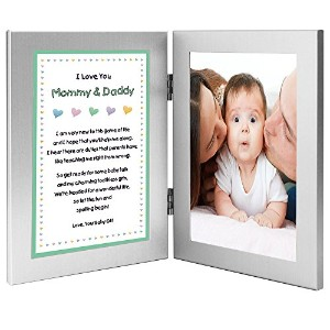 New Parents Frame and Poem From Baby Girl - Mommy and Daddy From Daughter - Add Photo by Poetry...
