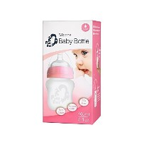 PuttiAtti Silicone Baby Bottle - Step 1 Nipple Included (5 oz(160ml), pink) by PuttiAtti