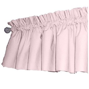 bkb Solid Color Window Valance, Pink/Light Blue by bkb