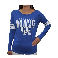 Womens Kentucky Wildcats Athletic Loose Fitクルーネック長袖シャツ S ブルー