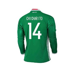 CHICHARITO #14 Mexico Home Long Sleeve Jersey COPA America Centenario 2016(Authentic name & number)...
