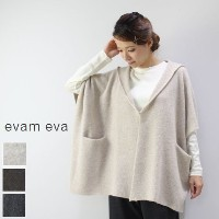 evam eva(エヴァムエヴァ) brushed poncho 3colormade in japanv173k943