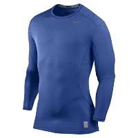 Nike Men's Pro Combat Core Fitted Long Sleeve Compression Top - Royal Blue/ナイキ プロ コンバット コア Fitted...