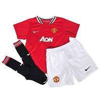 Nike Toddler Manchester United Home Uniform Kit Red/White 2011-12/サッカー キッズセット マンチェスター・ユナイテッド 2013...