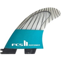 FCS エフシーエス フィンFCS II Performer PC Carbon Teal Tri Set PC-PERFORMER-CARBON-TRI TEL M