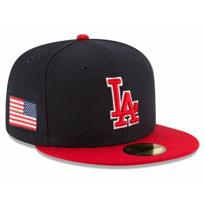 NEW ERA LOS ANGELS DODGERS 【USA COUNTRY COLORS/NAVY-RED】 ニューエラ ロサンゼルス ドジャース 59FIFTY フィッテッド キャップ...