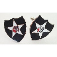US Army 2 nd Infantry Division Cuff Links withギフトボックス