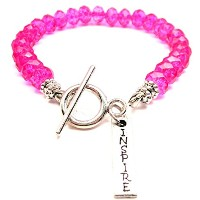 InspireクリスタルToggle Bracelet Inホットピンク