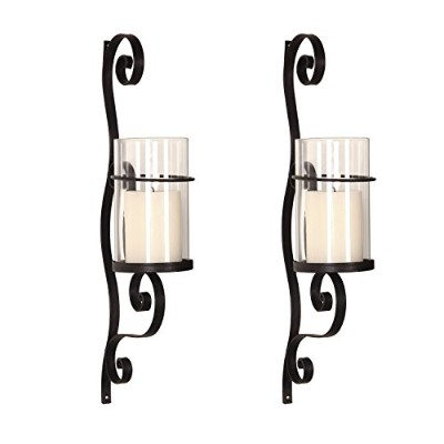 (Sconce-2) - Homebeez Wall Hanging Candle Holder Sconce Wall Decor Set of 2