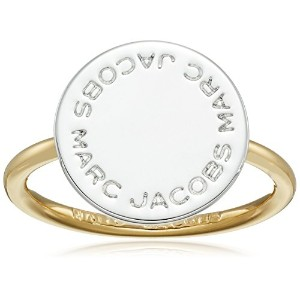 Marc Jacobs Mixed Metal Logo Disc Ring 8