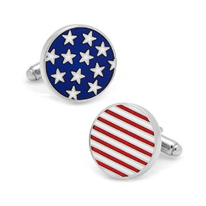 Athena円American Flag Cuff Links inギフトボックス