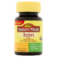 Nature Made Iron Dietary Supplement Tablets 65mg 260 count