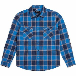 Brixton Bowery L/S Flannel Shirt Blue/Navy S ネルシャツ 送料無料
