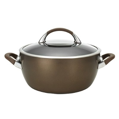Circulon対称Hard Anodized Nonstick 5.5-qt。Covered Casserole 5.5-qt ブラウン 82769