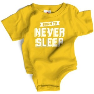 Wry Baby Born to Never Sleep Snapsuit 6-12M Yellow by Wry Baby