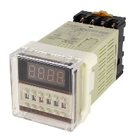 uxcell デジタル遅延継電器 0.01s-99h/99m AC 110V 8ピン DH48S-S/1Z