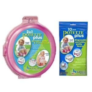Potette Plus Travel Potty includes EXTRA Liners, Pink by Kalencom